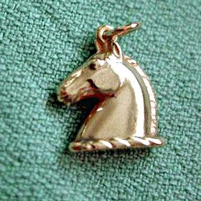 Gold Roman Horsehead Charm
