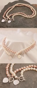Pink or White Freshwater Pearls