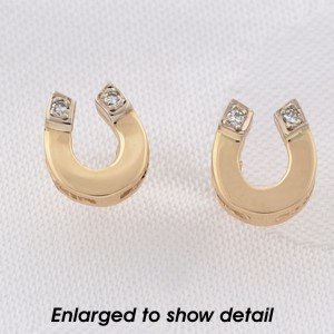 Here Are Some Great 14k Gold Horseshoe Earrings Pee Elegant Design Is Easy To Wear Every Single Day Each Earring 1 3 X With A Small Accent