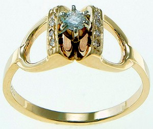 Here's a great horse themed engagement ring. The 14K Gold and Diamond ...