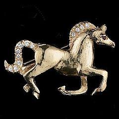 gold horse pin
